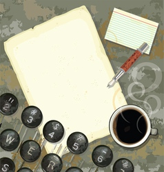 writers desk with typewriter vector image vector image