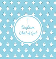 Baptism invitation template vector