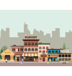 Buildings of small business vector