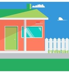 Family House Landscape vector image