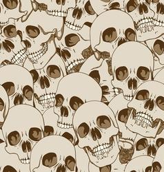 human skulls seamless background vector image vector image