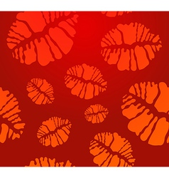 Lipstick Kiss seamless pattern vector image