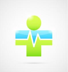 Medical cross like human body vector image vector image
