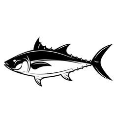 monochrome with tuna for menu vector image