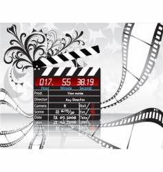 movie director clapperboard vector image