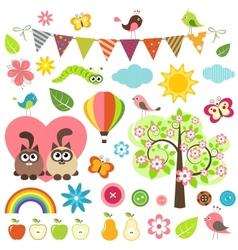 spring set vector image