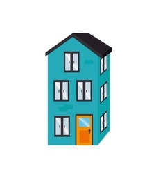 building estate real construction isolated vector image