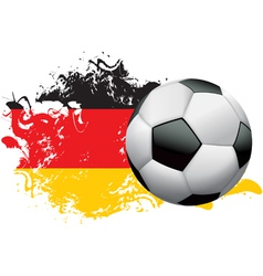 Germany Soccer Grunge vector image vector image