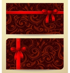 Gift card as present box vector image