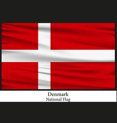 national flag of denmark vector image vector image