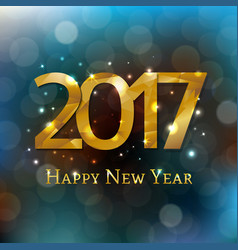 new year postcard 2017 vector image vector image