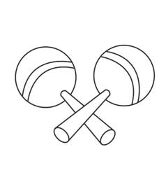 pair of maracas icon vector image