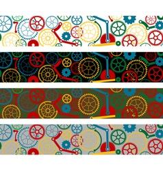 set of color gear borders vector image