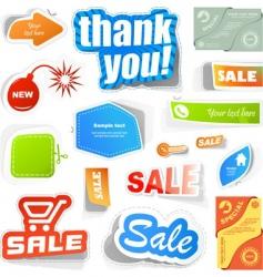 set of sale elements vector image vector image