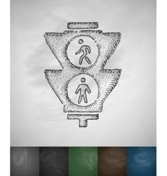 traffic lights for pedestrians icon vector image