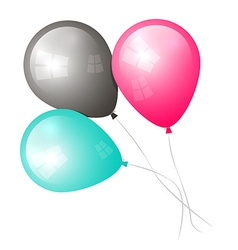 Balloons Isolated on White vector image