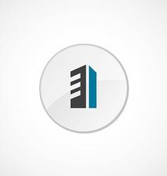 building icon 2 colored vector image vector image