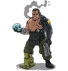 Cyborg vector image vector image