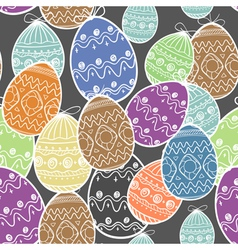 Easter eggs seamless background vector image
