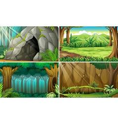 Forest scene vector