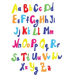 Funny font for kids vector image vector image