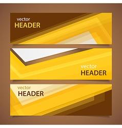 orange headers vector image