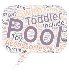 Popular Pool Accessories for Toddlers text vector image vector image