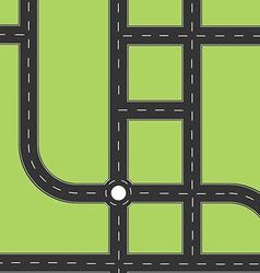 Road city top view vector image