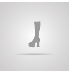 Woman Hessian boots icon vector image vector image