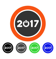 2017 button flat icon vector