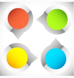 4-step circular presentation infographics element vector image