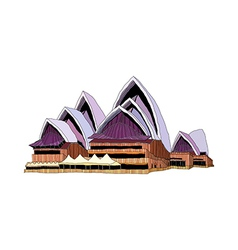 A view of opera house vector