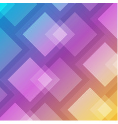 abstract geometric square overlap on colorful vector image
