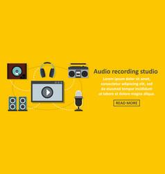 audio recording studio banner horizontal concept vector image