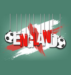 banner the inscription england vector image