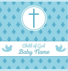 baptism invitation template vector image