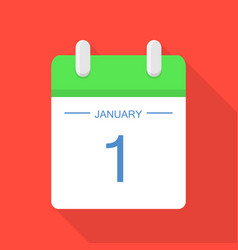 Beginning of calendar icon flat style vector
