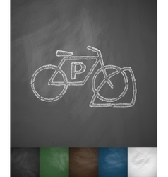 Bicycle parking icon vector