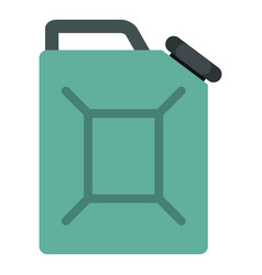 Blue fuel jerrycan icon isolated vector