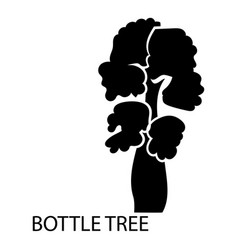 bottle tree icon simple style vector image