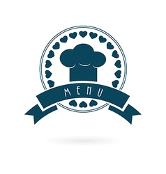 Chef menu log vector image