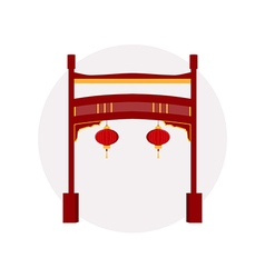 Chinese gate paifang vector
