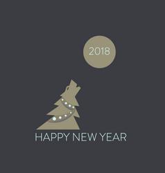 Christmas tree dog symbol chinese new year humor vector