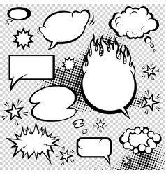 comic style speech bubbles collection funny vector image