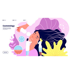 cosmetology concept facelift epidermidis vector image