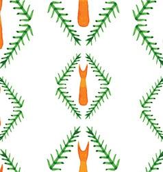 cute autumn watercolor seamless pattern fox vector image