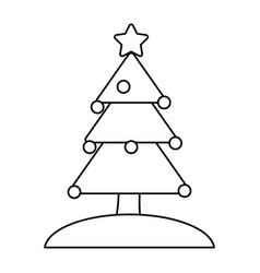 Decorated tree christmas related icon image vector