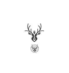 deer dessert logo icon vector image