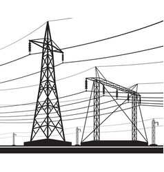 Different electrical transmission lines vector