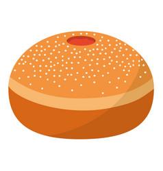 donut bakery dessert vector image